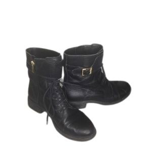 Vince Camuto Black Taryn moto boots SZ 9
